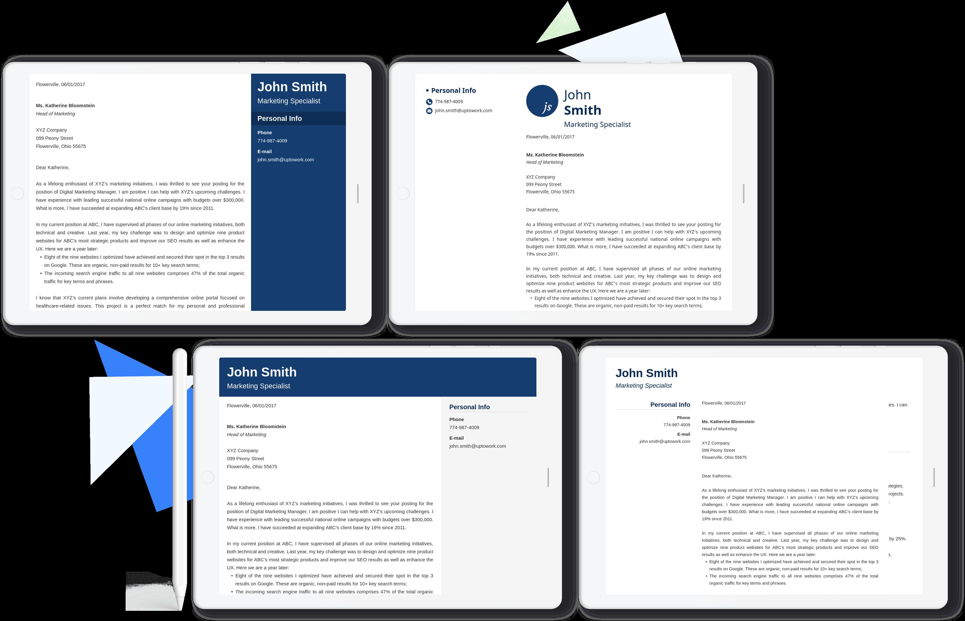 I migliori template per lettere di presentazione per ogni situazione