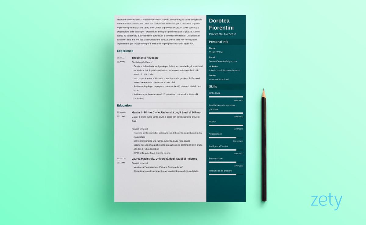 layout curriculum enfold