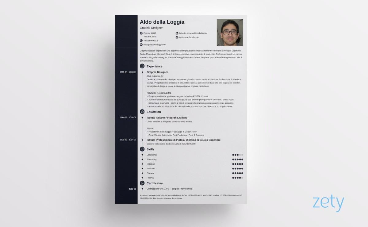 icone cv concept