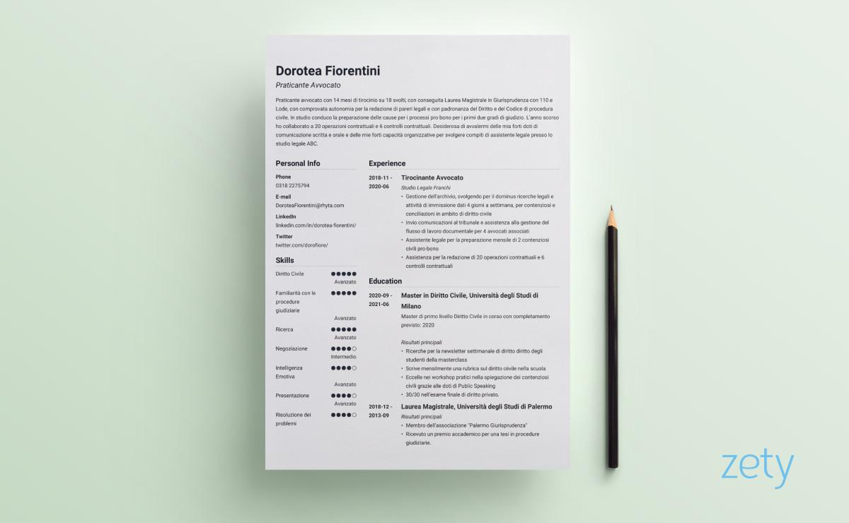 layout curriculum simple