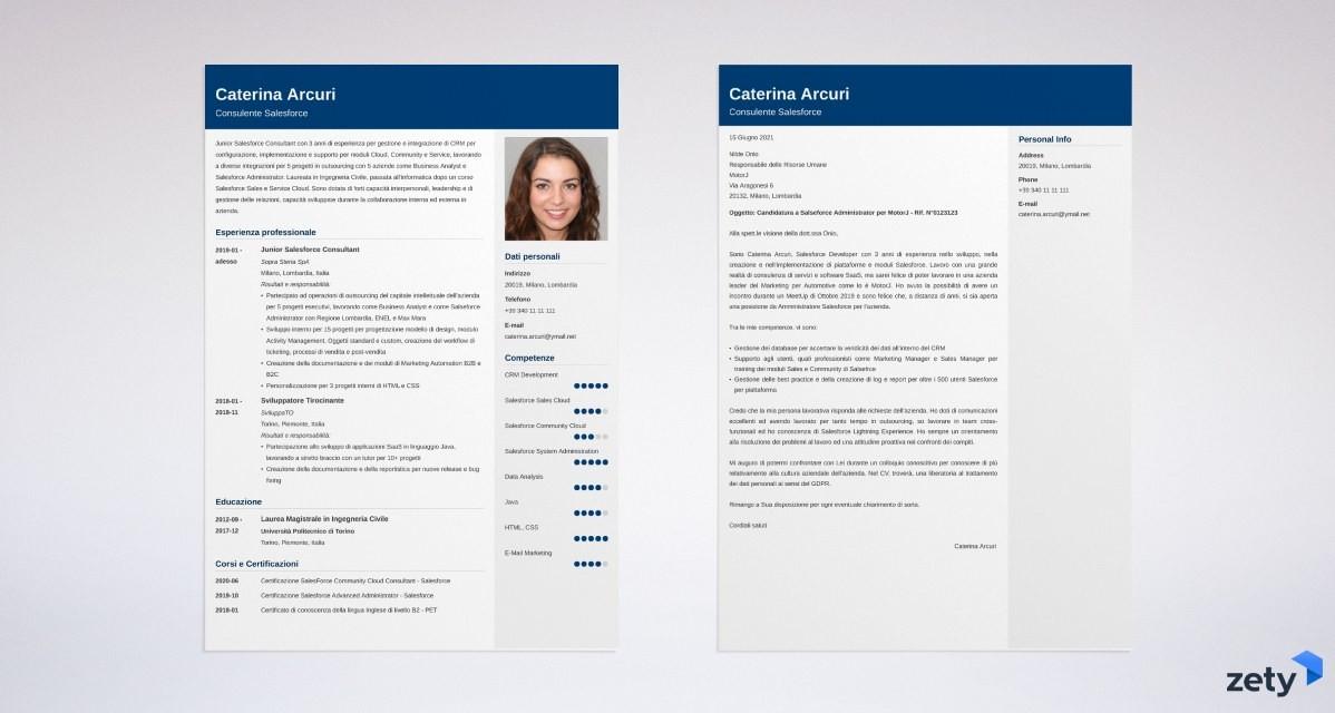 Lettera di presentazione efficace