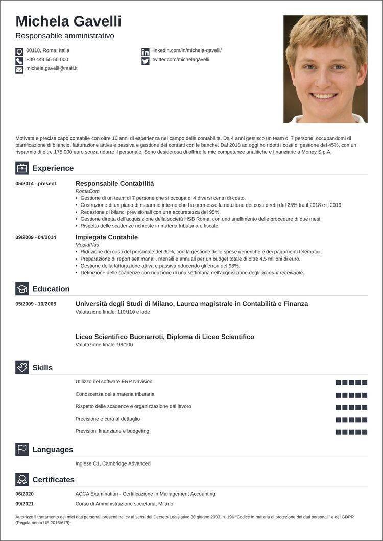 curriculum vitae download