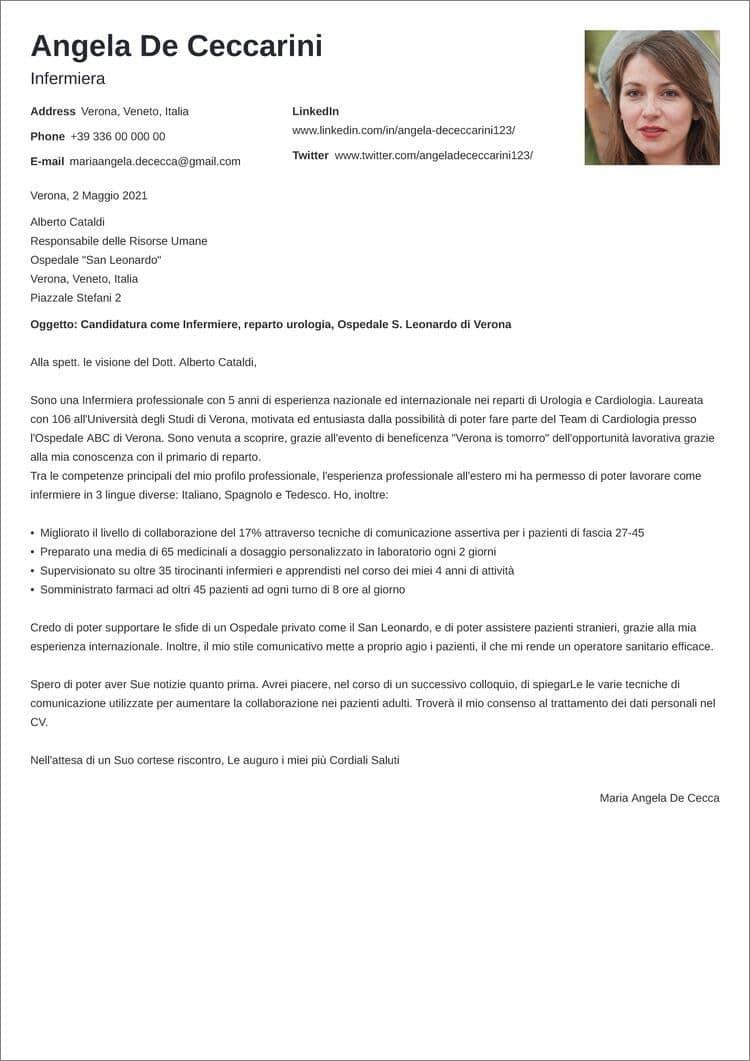 lettera di presentazione creativa nanica