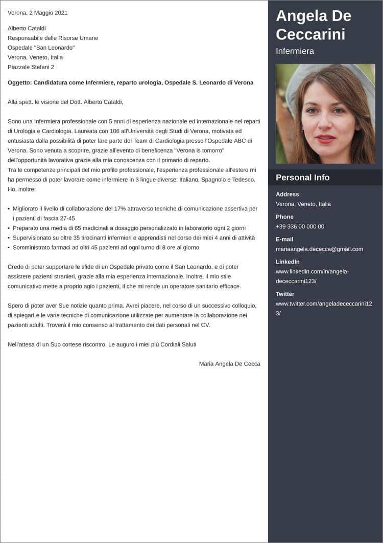 lettera di presentazione creativa enfold