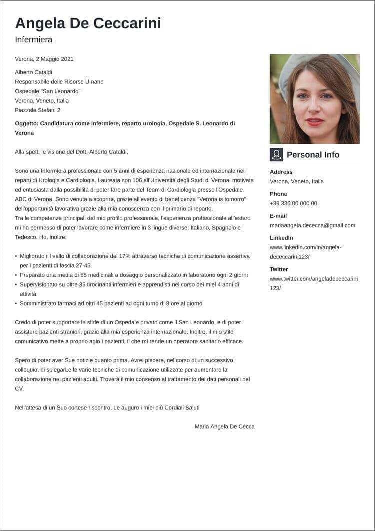 lettera di presentazione creativa vibes