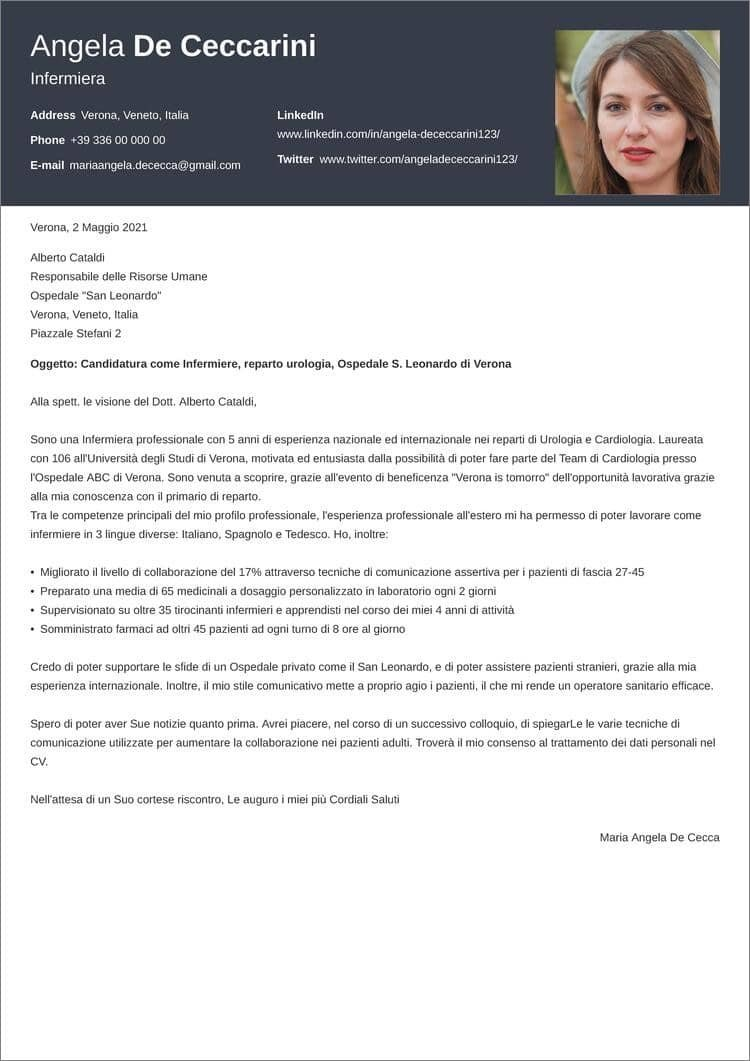 lettera di presentazione creativa diamond