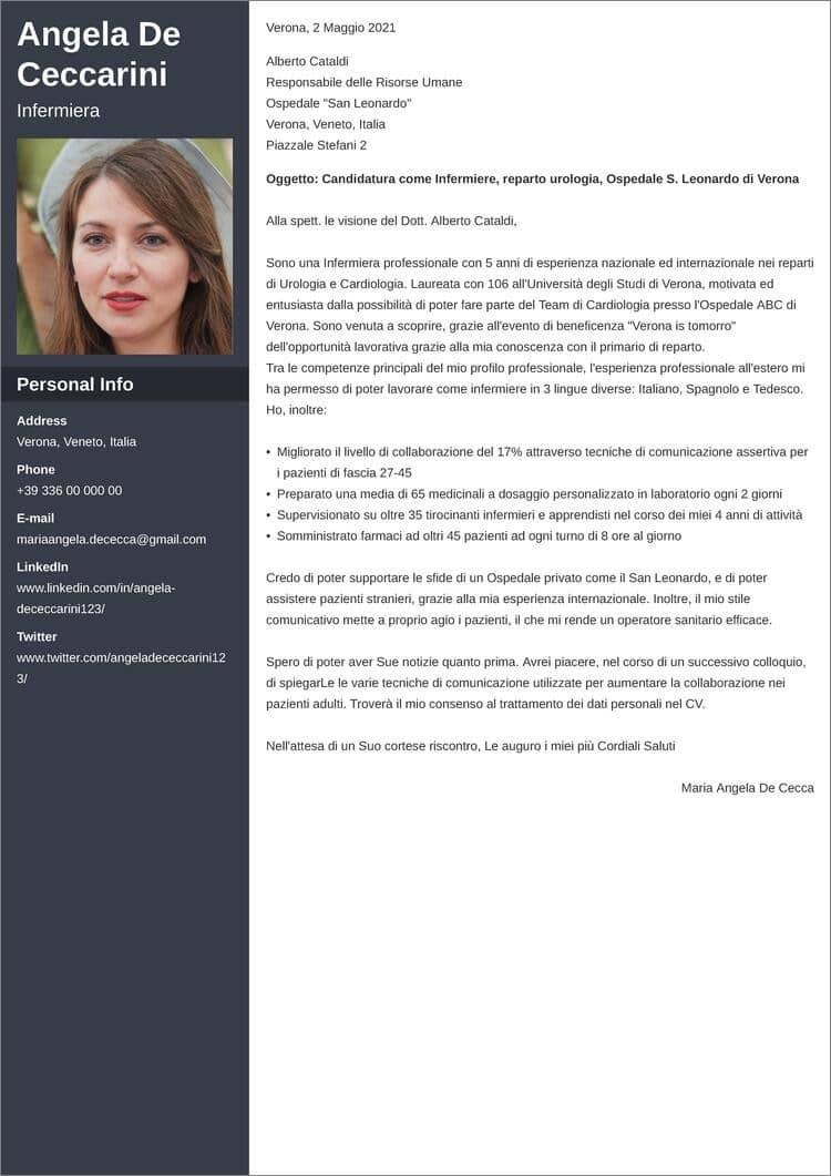 lettera di presentazione creativa cascade