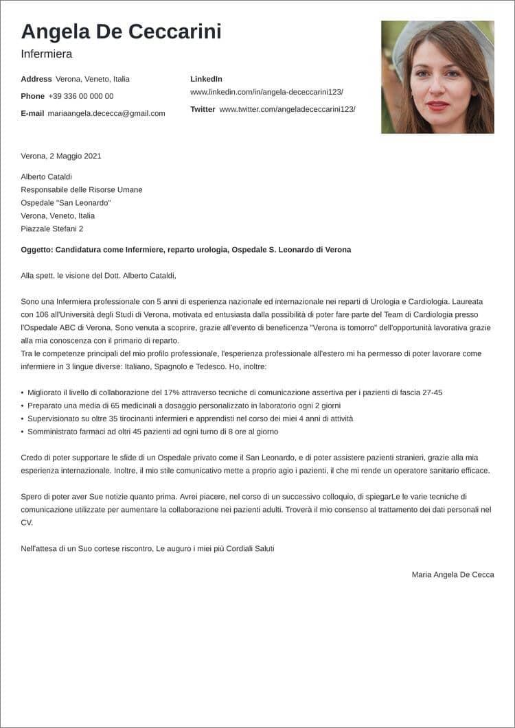 lettera di presentazione creativa minimo
