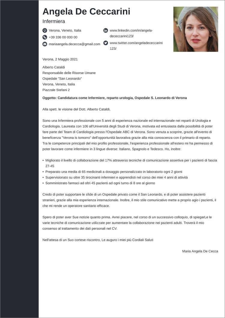 lettera di presentazione creativa concept